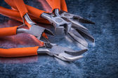 Composition of insulated cutting pliers — Stock Photo