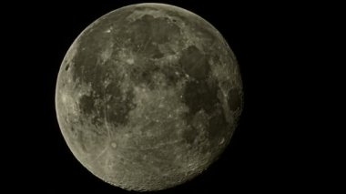 Video 1080p - The full moon in the sky with the details, close-up — Stock Video