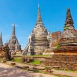 Wat Phra Si Sanphet temple. Phra Nakhon Si Ayutthaya Province, T — Stock Photo #52564883