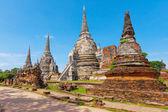 Wat Phra Si Sanphet temple. Phra Nakhon Si Ayutthaya Province, T — Stock Photo