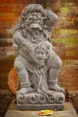 Vintage statue of the deity child-eating Rangda. Indonesia, Bali — Stock Photo