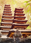 Two pagodas in the temple complex. Indonesia, Bali island — Stock Photo