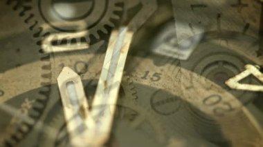 1080 p ビデオ - 抽象的なコラージュ - ビンテージ機械式時計 — ストックビデオ