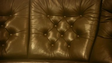 Video 1080p - Leather upholstery of old classic furniture — Stock Video