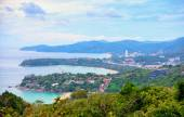 View to the few beaches of Phuket from high viewpoint — Stock Photo