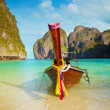 Traditional long tail boat, Thailand Phi-Phi island. — Stock Photo #54988899