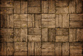 Weathered, Parquet Style, Wooden Decking — Stock Photo
