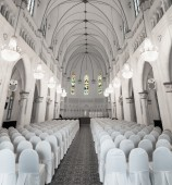 Interior of Chijmes Hall in Downtown Singapore — Stock Photo