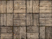 Parquet Style, Wooden Patio with Alternating Woodgrain — Stock Photo