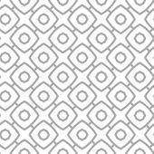 Simple geometric vector seamless pattern - gray contour figures  — Stock Vector