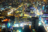 Beautifully Lit Cityscape in Asia at Night — Stock Photo