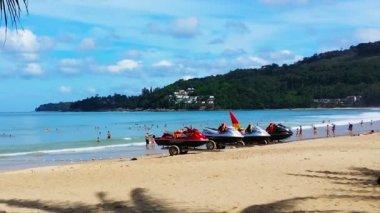 At the beach in Phuket. Thailand. November 2014 — Stock Video