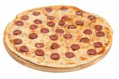 Homemade pizza with salami — Stock Photo