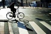 Amsterdam bicyclist — Stockfoto
