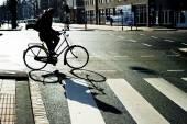 Amsterdam bicyclist — Stock Photo
