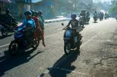 Balinese traffic — Stock Photo