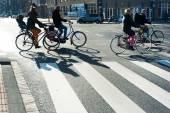 Bicyclists Amsterdam — Stock Photo