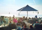 Cafe on the beach. Holland — Photo