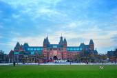 Rijksmuseum Amsterdam museum area — Foto de Stock