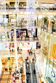 Holliday shopping mall — Stock Photo