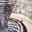 People visiting Reichstag dome in Berlin — Stock Photo #59470319