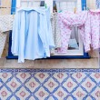 Drying clothes hanging — Stock Photo #61468127