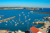 View of a harbor in Sagres — Stock Photo