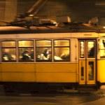 Lisbon tram motion — Stock Photo #63923233