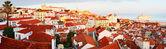 Lisbon Old Town panorama — Stock Photo