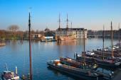 Amstel river in Amsterdam — Stock Photo