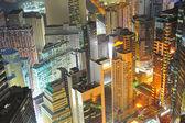 Hong Kong density downtown — Stock Photo