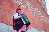 Traditional Poland musician — Stock Photo