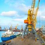 Odessa sea port, Ukraine — Stock Photo #77924036