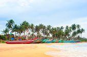 Sri Lankan fisherman boats — Stock Photo