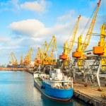 Odessa commercial port, Ukraine — Stock Photo #79237580