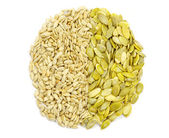 Sunflower and pumpkin seeds — Stock Photo