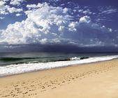 Beach and blue sky — Stock Photo