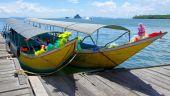 Bateaux longtail, mer d'andaman — Photo