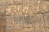 Hieroglyphs on wall — Stock Photo