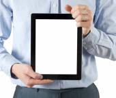 Hands  holding tablet computer — Stock Photo