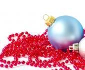Голубые елочные шары — Стоковое фото