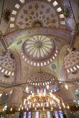 Modrá mešita interiér — Stock fotografie