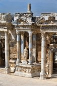 Theater in ancient Hierapolis — Stock Photo