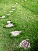Zahradní kamenná cesta — Stock fotografie