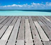Beach and tropical sea — Stock Photo