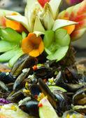 Salad mussel — Stock Photo