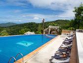 Tropical swimming pool — Stock Photo