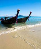 Boats in Andaman Sea, Thailand — Stock Photo