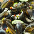 Salad mussels and vegetables — Stock Photo #61054697