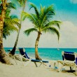 Grunge image of tropical beach — Stock Photo #61061759